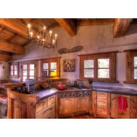 """Кухня под старину из массива дерева """"Ладимира"""""""
