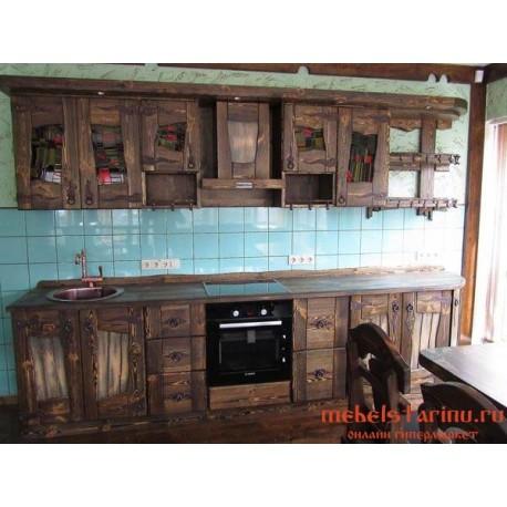 """Кухня под старину из массива дерева """"Леля"""""""