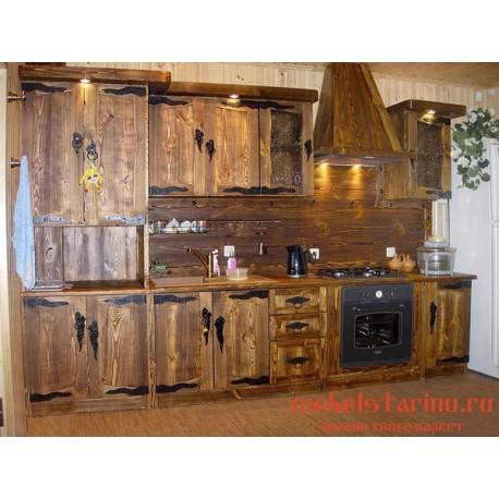 """Кухня под старину из массива дерева """"Лепа"""""""