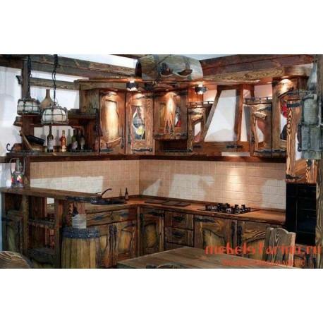 """Кухня под старину из массива дерева """"Светолика"""""""
