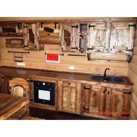 """Кухня под старину из массива дерева """"Селена"""""""