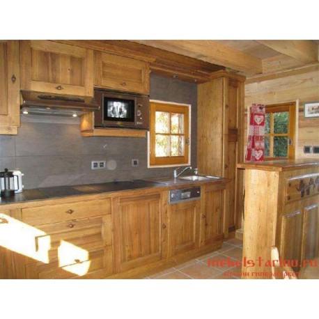 """Кухня под старину из массива дерева """"Сияна"""""""