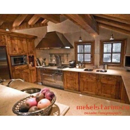 """Кухня под старину из массива дерева """"Скрева"""""""