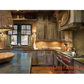 """Кухня под старину из массива дерева """"Смарагд"""""""