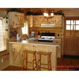 """Кухня под старину из массива дерева """"Сновида"""""""