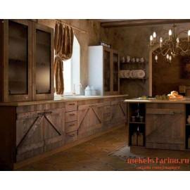 """Кухня под старину из массива дерева """"Собина"""""""