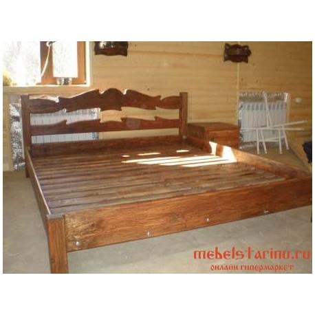"""Кровать под старину из массива дерева """"Сола"""""""