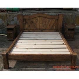 """Кровать под старину из массива дерева """"Хайда"""""""