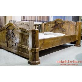 """Кровать под старину из массива дерева """"Хвалимира"""""""