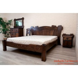 """Кровать под старину из массива дерева """"Хубава"""""""