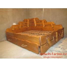 """Кровать под старину из массива дерева """"Цветимира"""""""