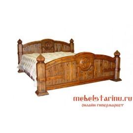 """Кровать под старину из массива дерева """"Чара"""""""