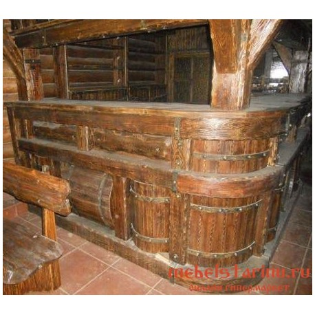 """Барная стойка под старину из массива дерева """"Санда"""""""