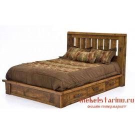 """Кровать под старину из массива дерева """"Елена"""""""