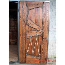 """Дверь под старину из массива дерева """"Елица"""""""