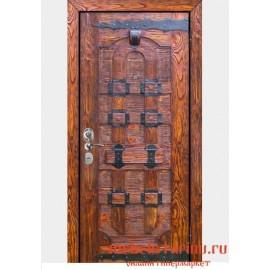"""Дверь под старину из массива дерева """"Елка"""""""