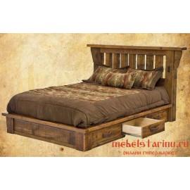 """Кровать под старину из массива дерева """"Веста"""""""