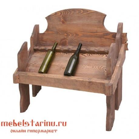 """Полка винная настенная под старину """"Казимир"""""""