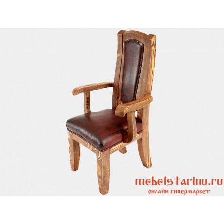 """Кресло под старину с обивкой """"Дюк"""""""