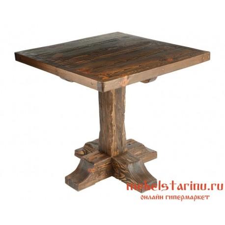 Стол под старину Добрыня квадратный