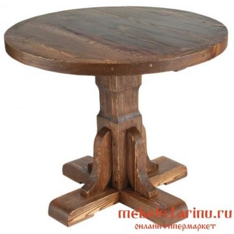 Стол под старину Попович круглый