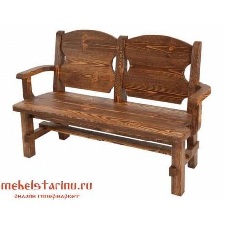 Кресло под старину Богатырское 2-х местное