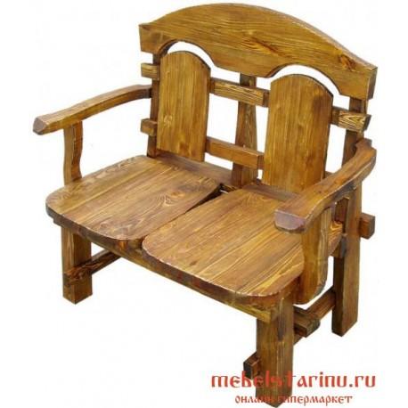 Кресло под старину Попович 2-х местное