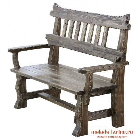 Кресло под старину Данила 2-х местное