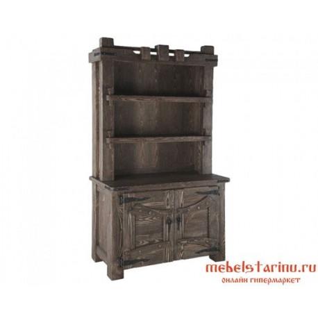 """Шкаф книжный с ковкой под старину """"Феофан"""""""