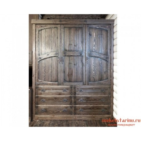 """Шкаф с ковкой под старину """"Пантелей"""""""