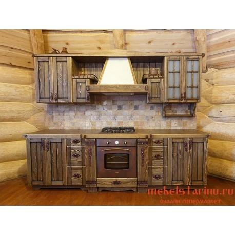 """Кухня из дерева под старину """"Благослава"""""""