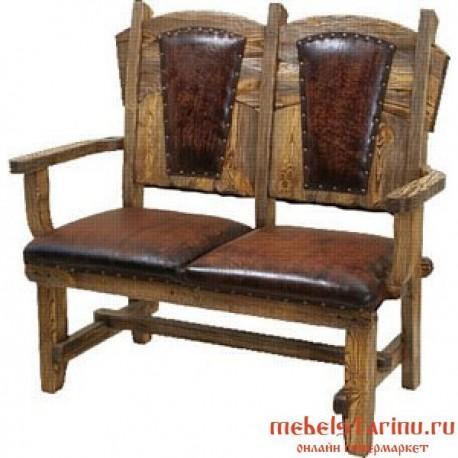 """Скамейка под старину из массива дерева """"Вышенега"""""""