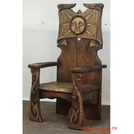 """Кресло под старину из массива дерева """"Творило"""""""