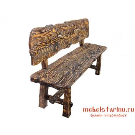 """Скамейка под старину из массива дерева """"Веченега"""""""