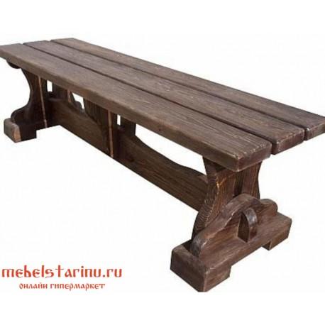 """Скамейка под старину из массива дерева """"Вельмира"""""""