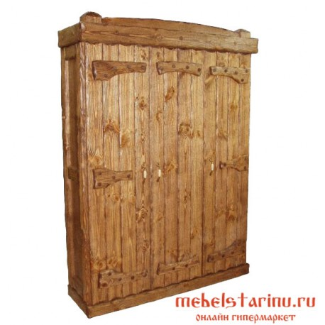 """Шкаф под старину из массива дерева """"Козенец"""""""