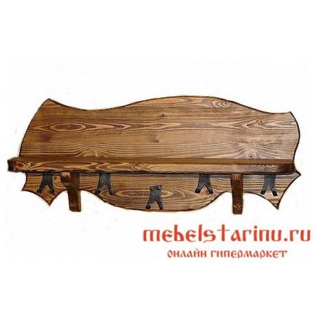 "Вешалка под старину из массива дерева ""Гурдева"""