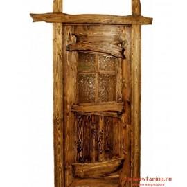 """Дверь под старину из массива дерева """"Лепослава"""""""