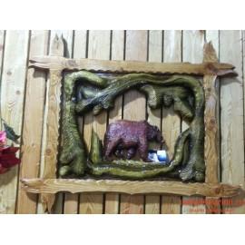 """Картина """"Медведь в лесу"""" ручная работа"""