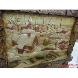 """Картина """"Снежный городок"""" ручная работа"""