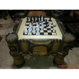 """Шахматный стол """"Умница"""" ручной работы"""