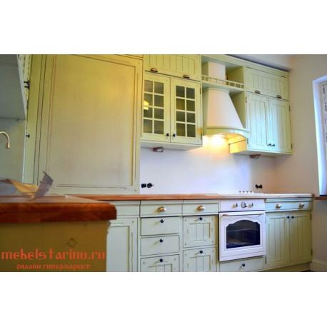 """Кухня под старину из массива дерева """"Зима"""""""