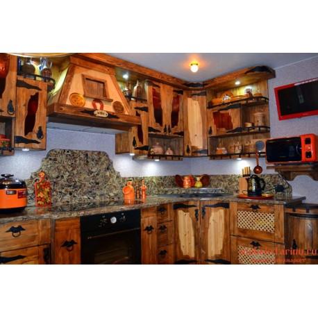 """Кухня под старину из массива дерева """"Искра"""""""