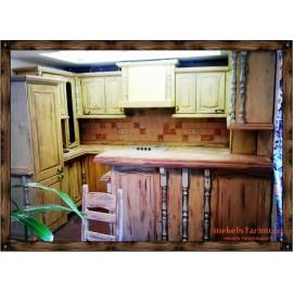 """Кухня под старину из массива дерева """"Благина"""""""