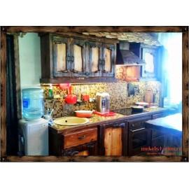 """Кухня под старину из массива дерева """"Казимира"""""""