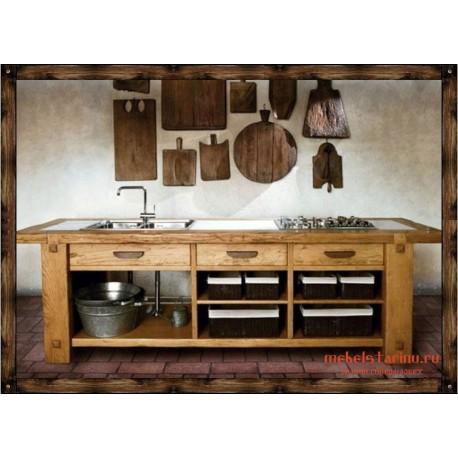 """Кухня под старину из массива дерева """"Милена"""""""