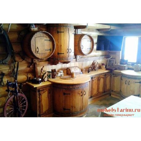 """Кухня под старину из массива дерева """"Мстислава"""""""