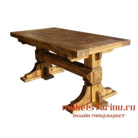 """Стол под старину из массива дерева """"Тредеграс"""""""