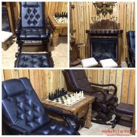"""Шахматный стол """"Мудрец"""" ручной работы"""