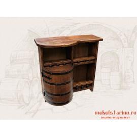 Тумба-бар под старину из массива сосны/дуба